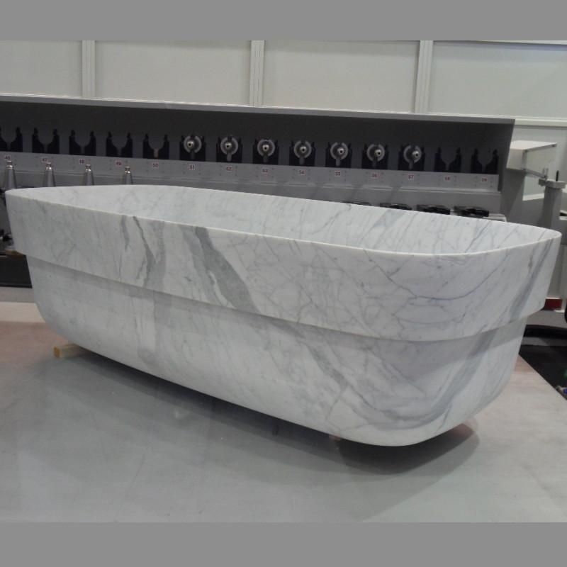 Q16 milano bathtub in statuario marble natural stone for Limestone bathtub