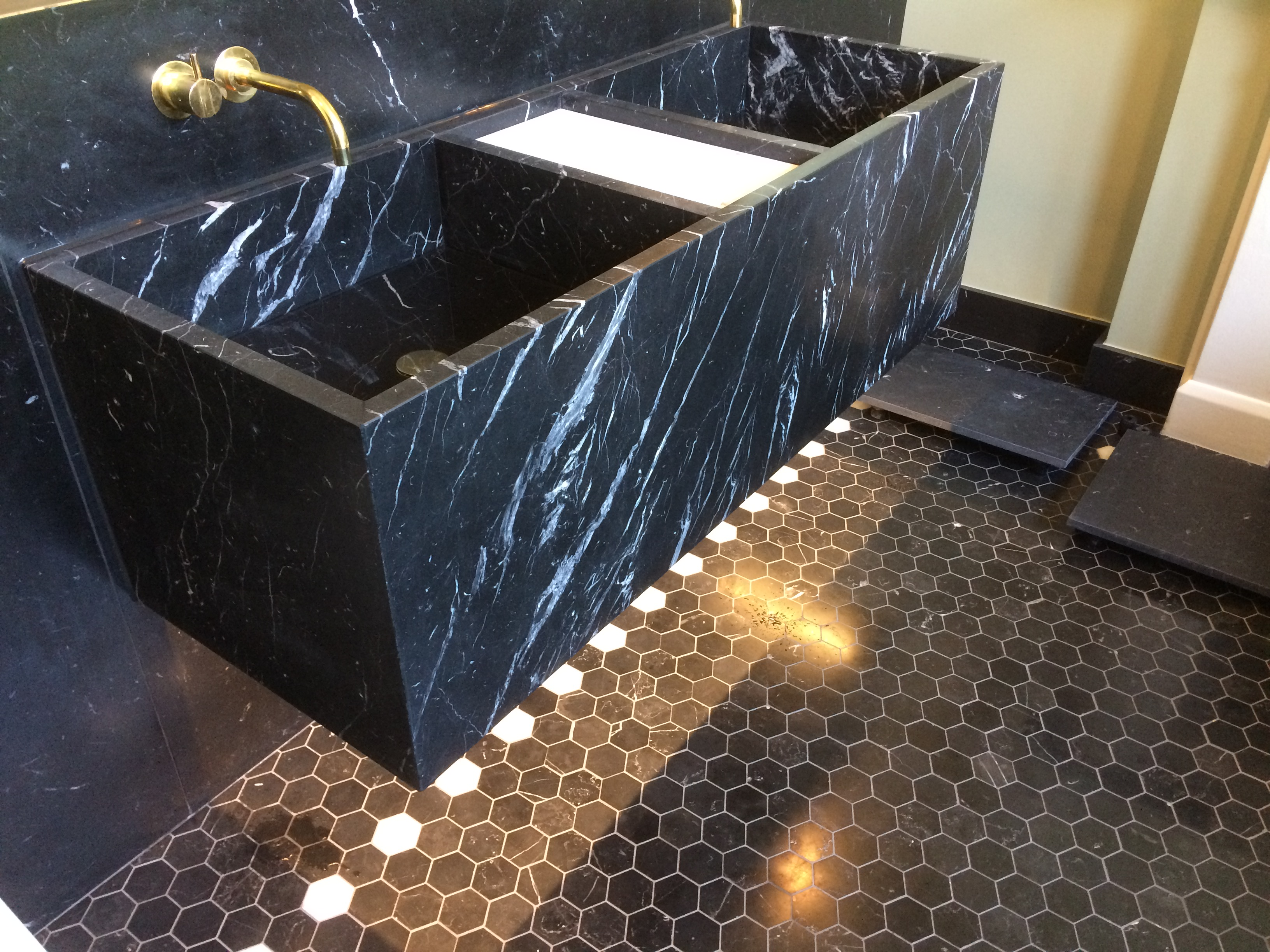 Nero marquina bathroom