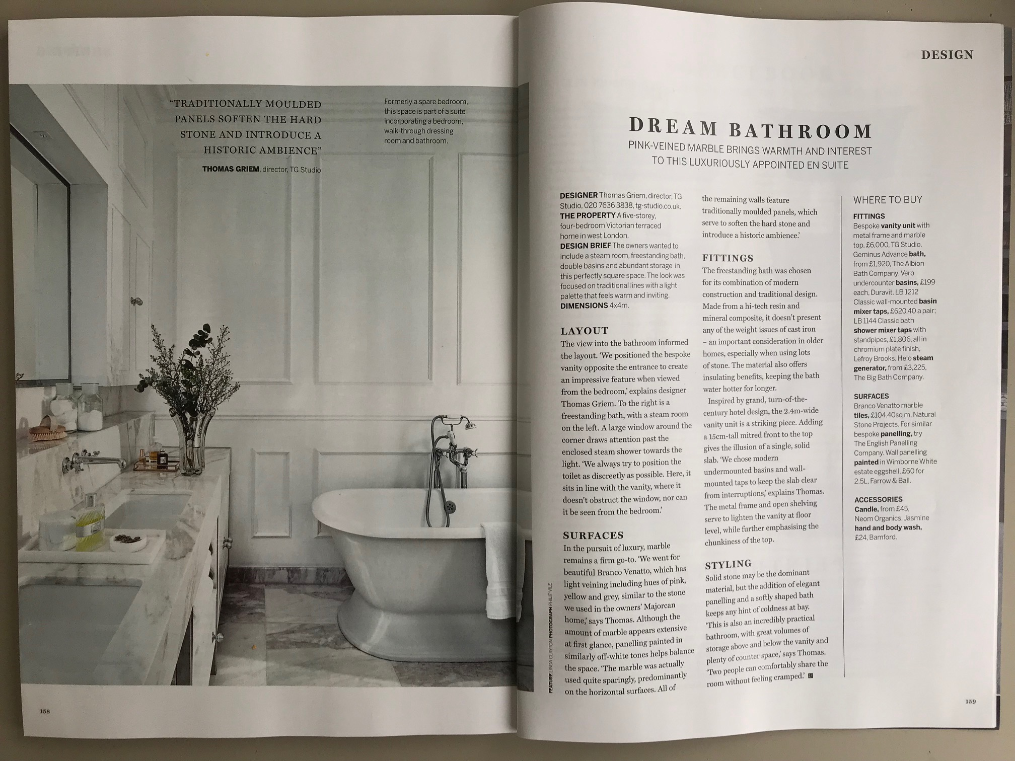 Homes and Gardens Mar 19 Branco Venatto
