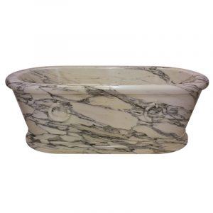 Augustus Bathtub Arabescato Marble