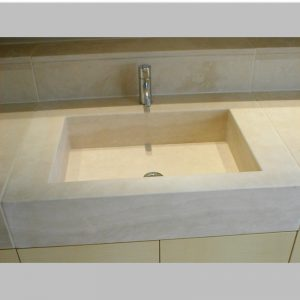 Ivory Travertine Basin