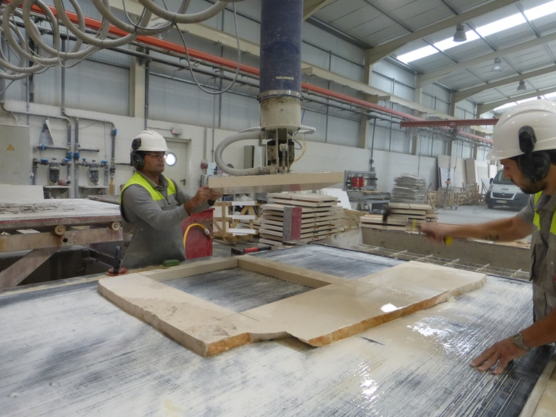 CNC cut slabs. Any off-cuts that do not meet quality are recycled