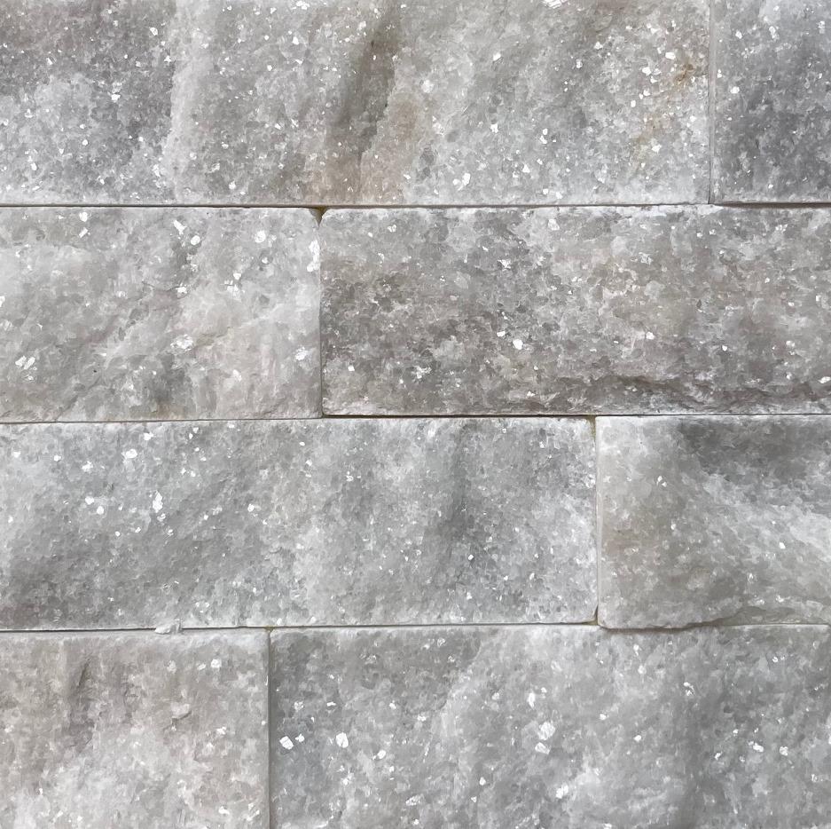 Athena Ice White Split Face Marble Cladding