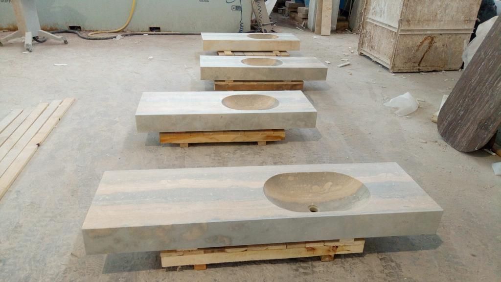 Carved-basins-in-Roman-Silver-Light-Vein-cut-travertine